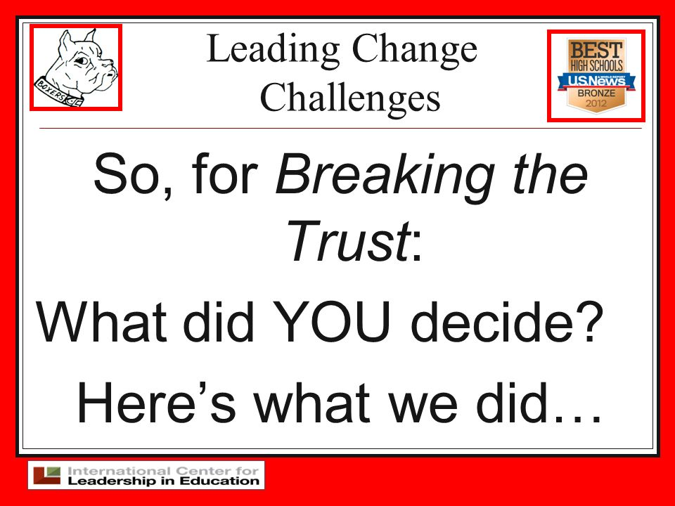 Leading Change Challenges