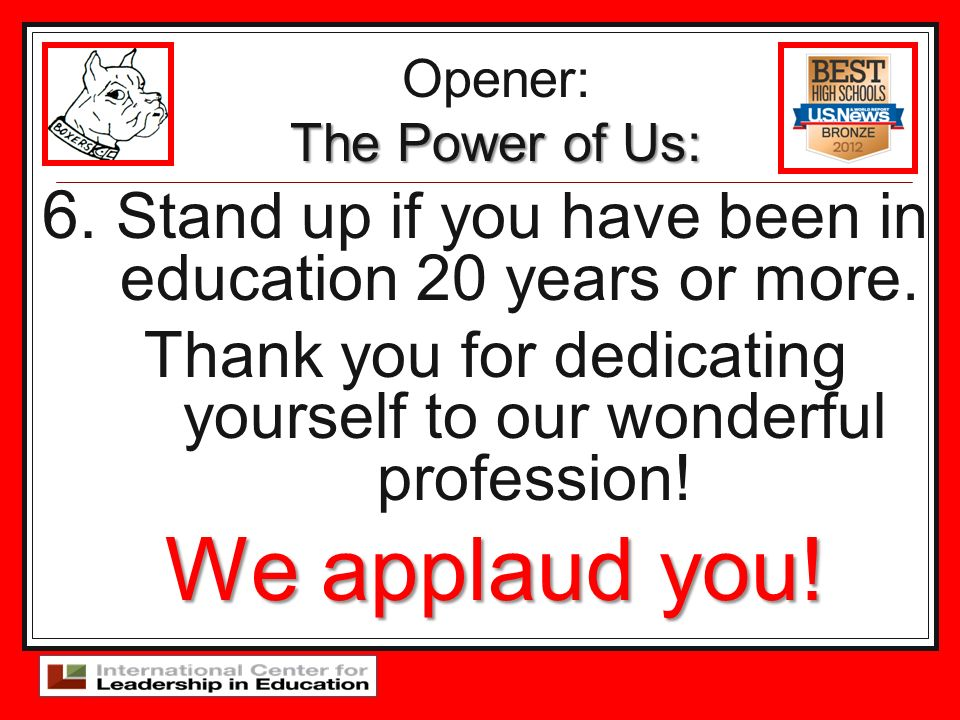 Thank you for dedicating yourself to our wonderful profession!