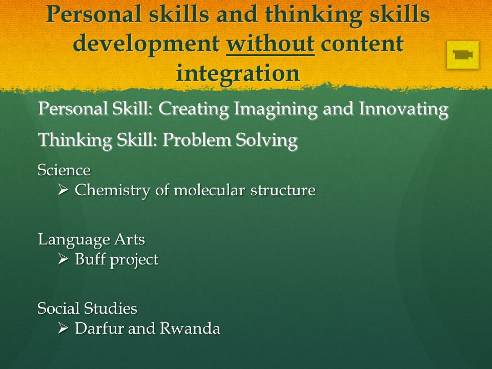 Personal Skill: Creating Imagining and Innovating