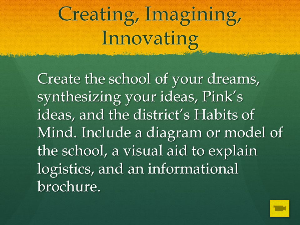 Creating, Imagining, Innovating