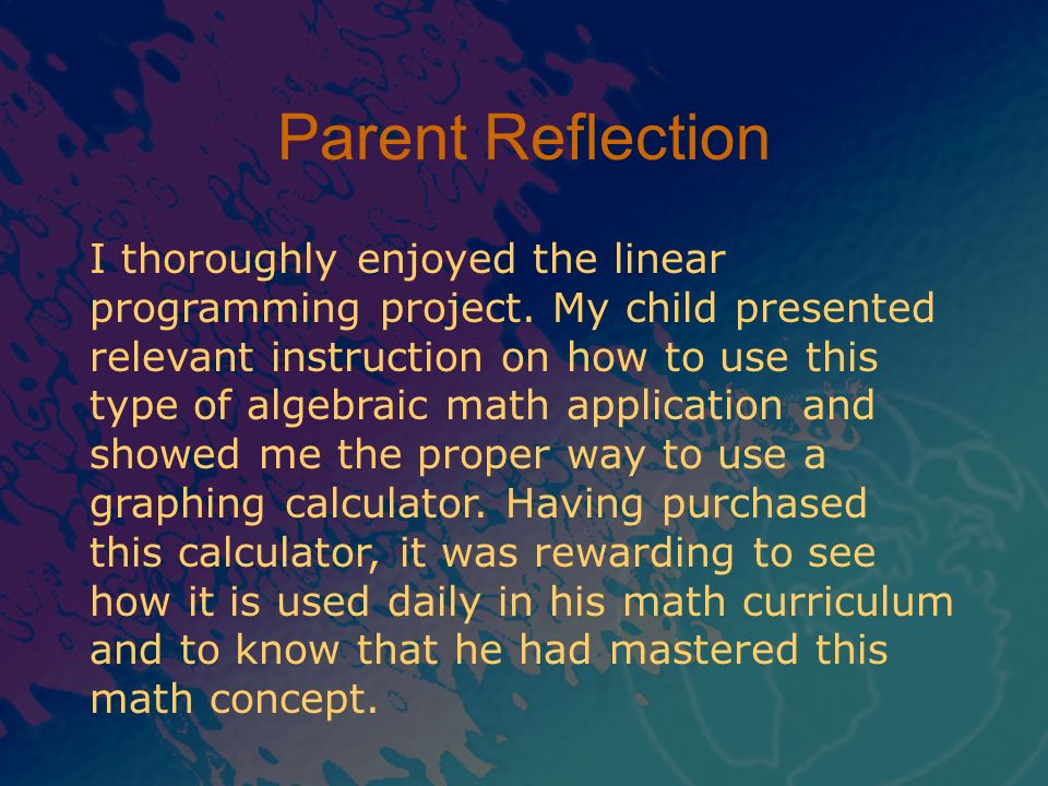 Parent Reflection