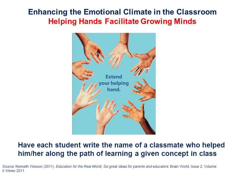 Enhancing the Emotional Climate in the Classroom