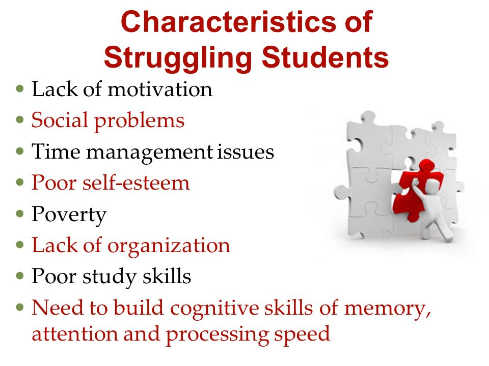 Characteristics of Struggling Students