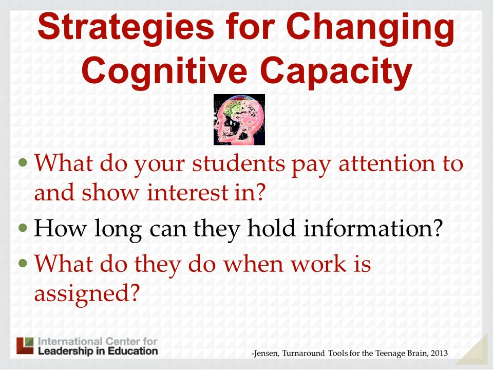Strategies for Changing Cognitive Capacity