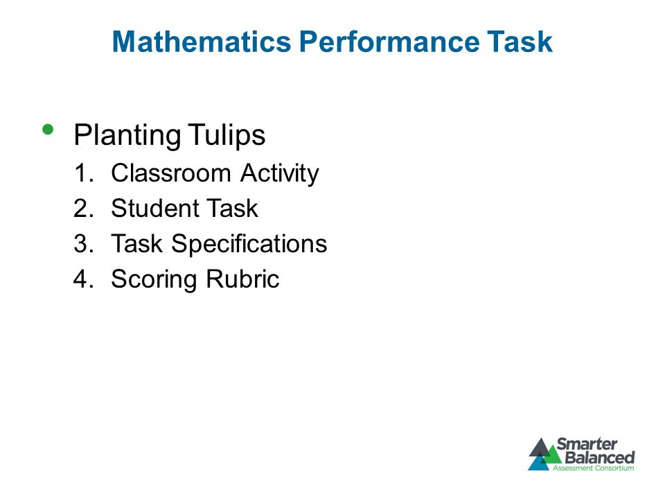 Mathematics Performance Task