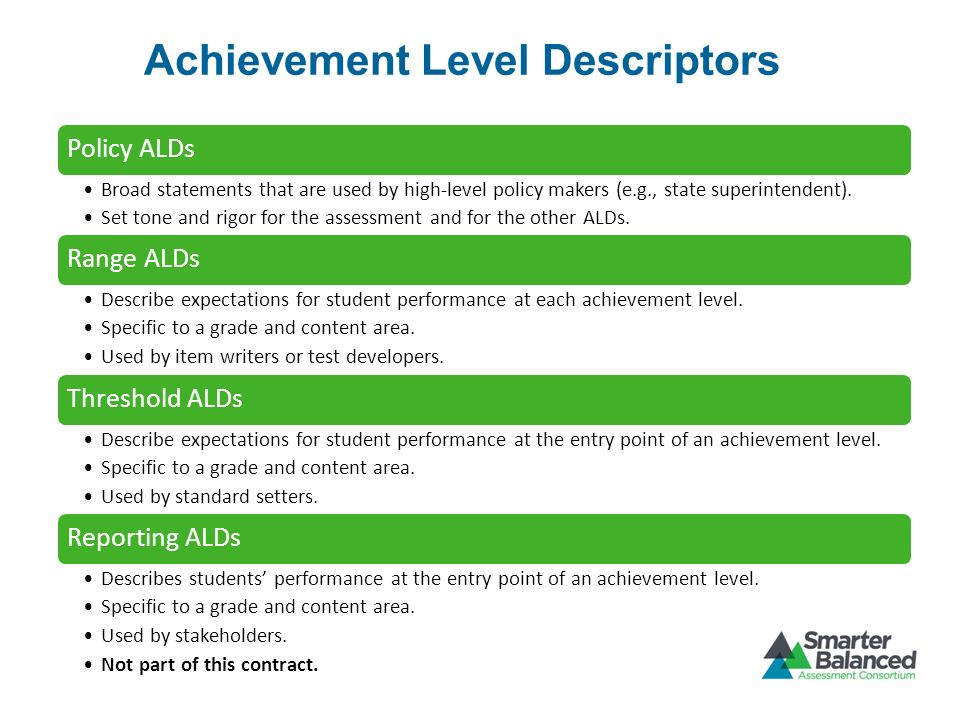 Achievement Level Descriptors