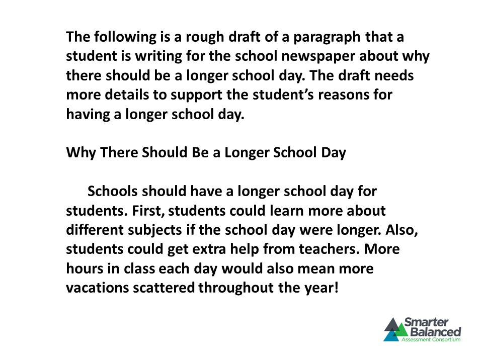 Why There Should Be a Longer School Day