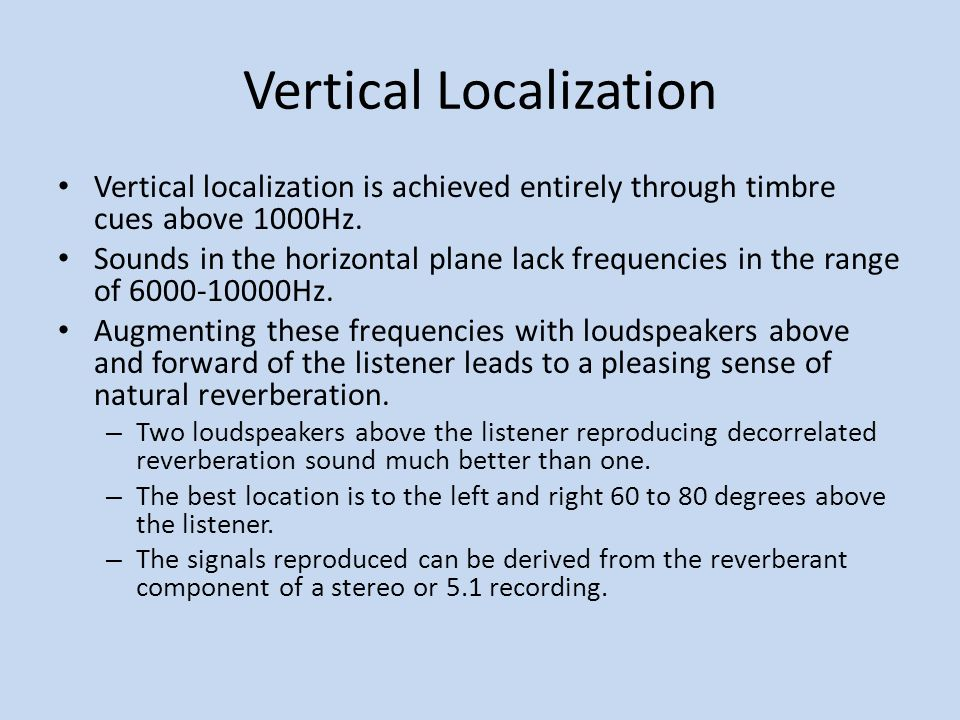 Vertical Localization