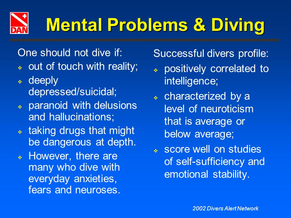 Mental Problems & Diving