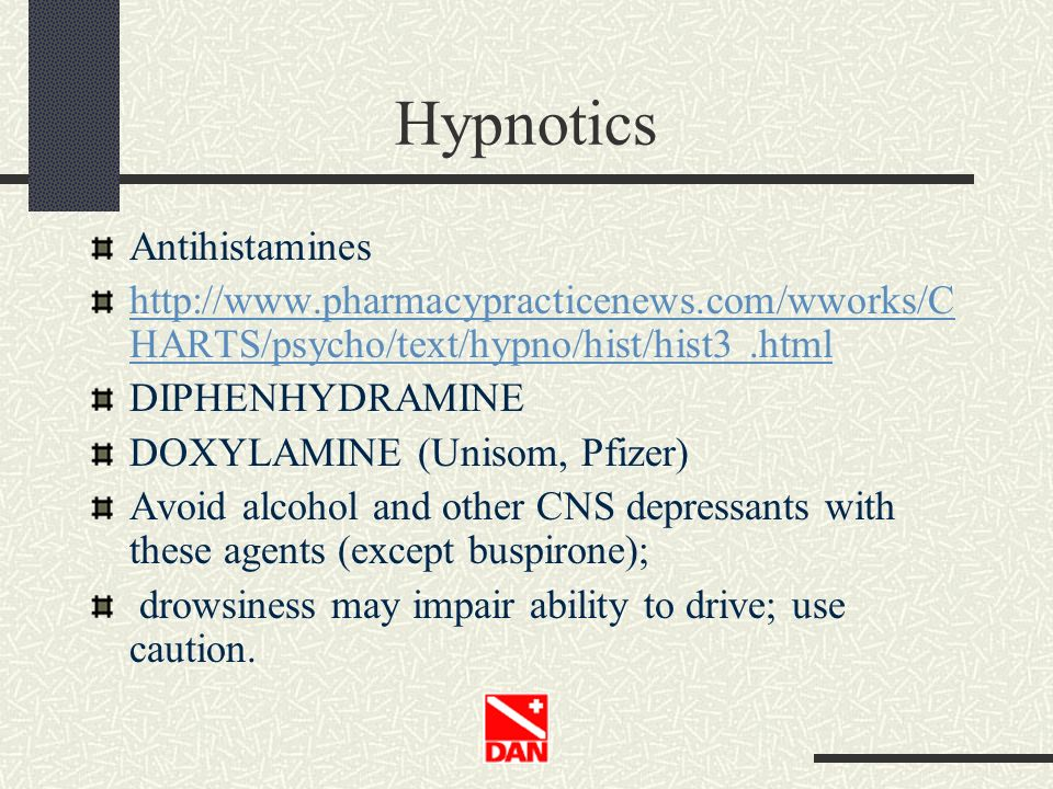 Hypnotics Antihistamines