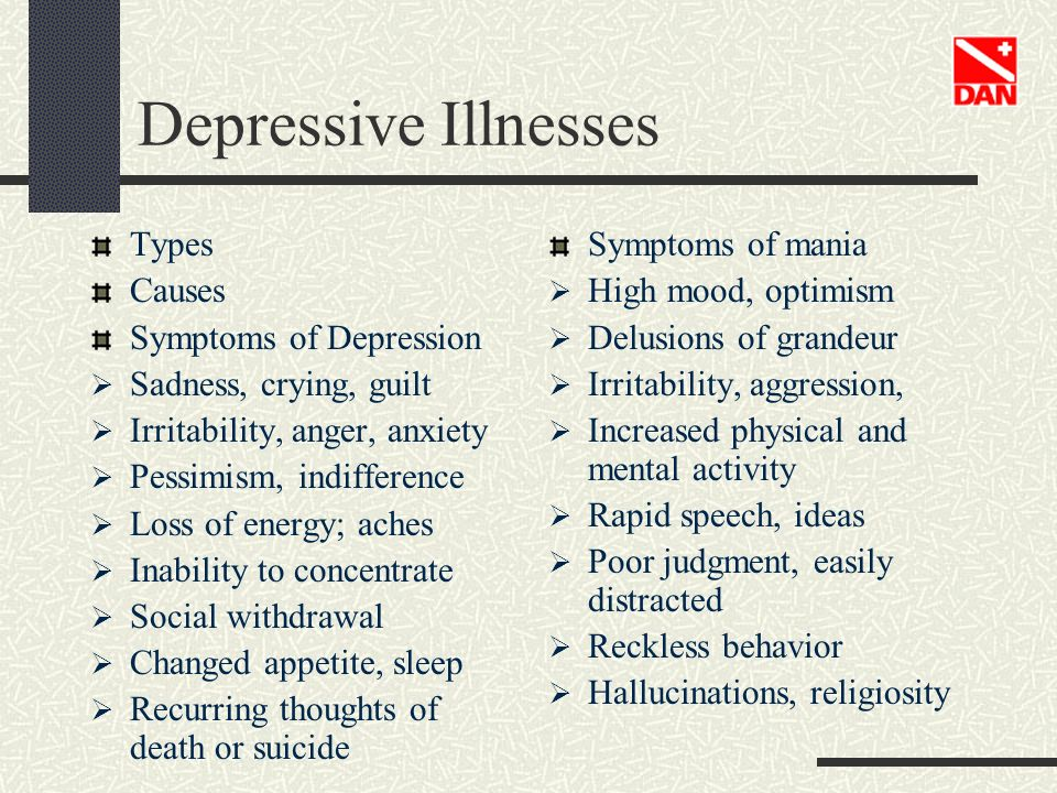 Depressive Illnesses Types Causes Symptoms of Depression