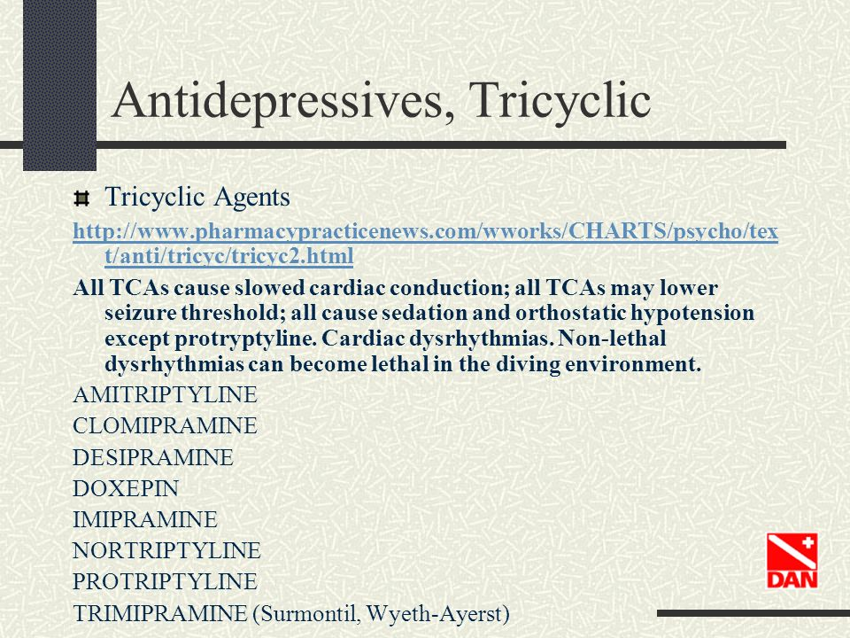 Antidepressives, Tricyclic