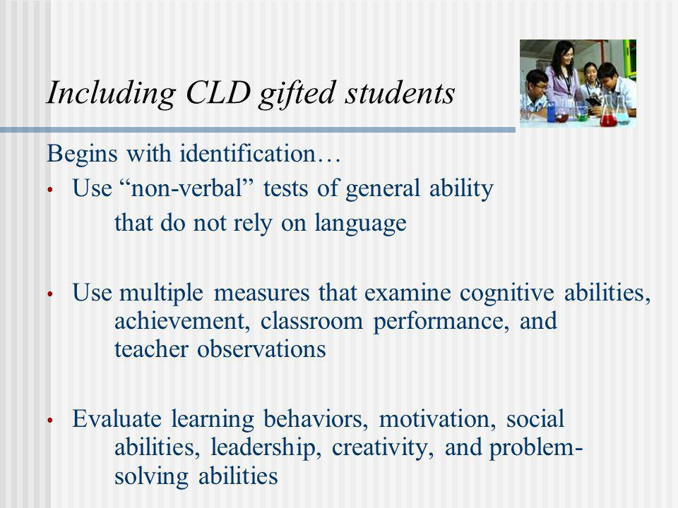 Including CLD gifted students