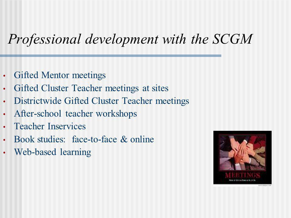 Professional development with the SCGM