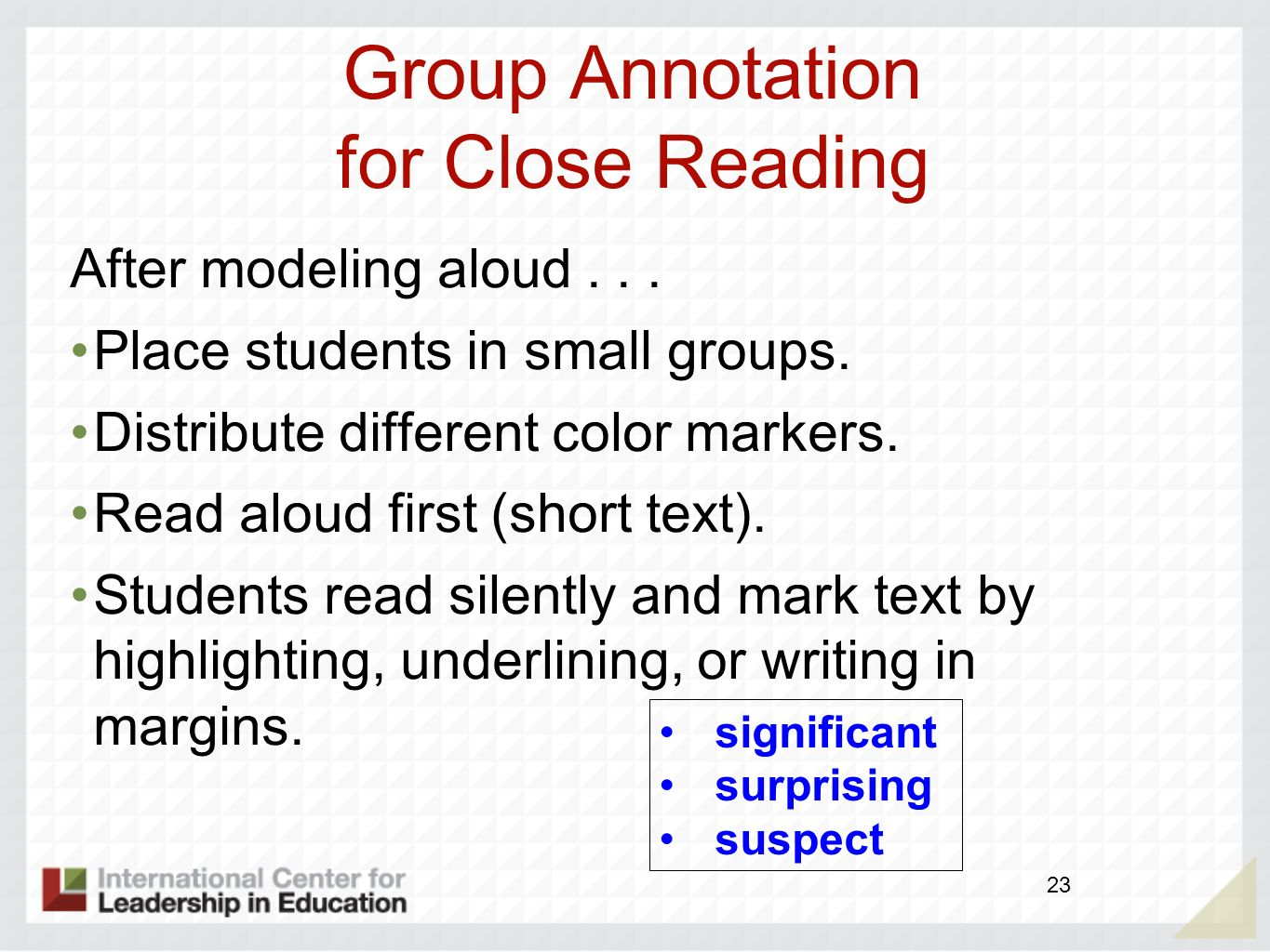 Group Annotation for Close Reading