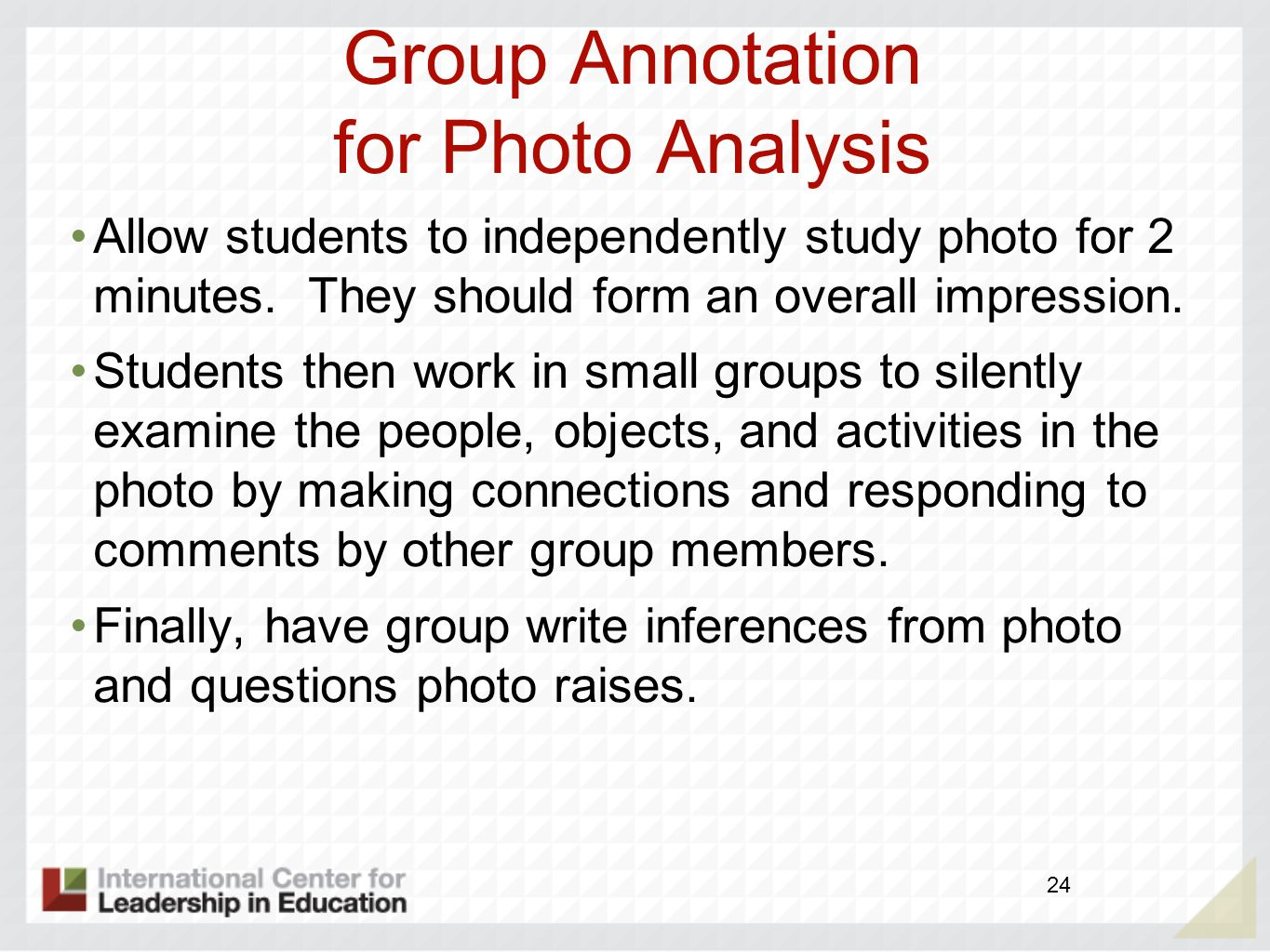 Group Annotation for Photo Analysis