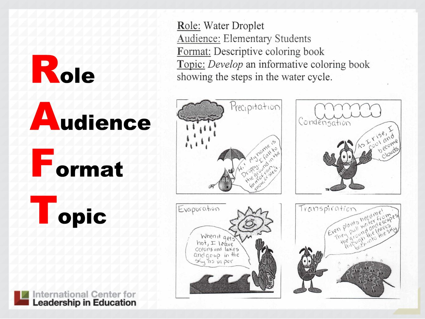 Role Audience Format Topic