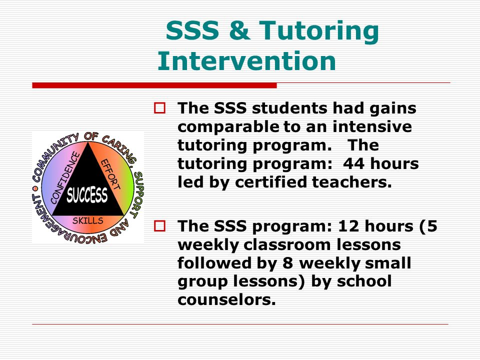 SSS & Tutoring Intervention