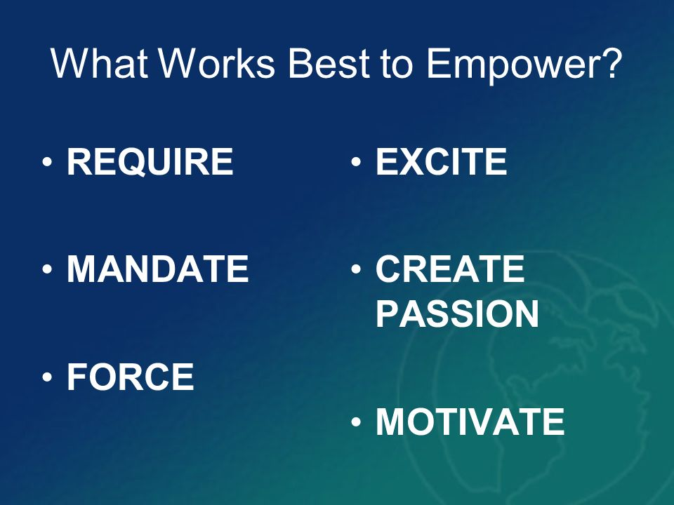 What Works Best to Empower