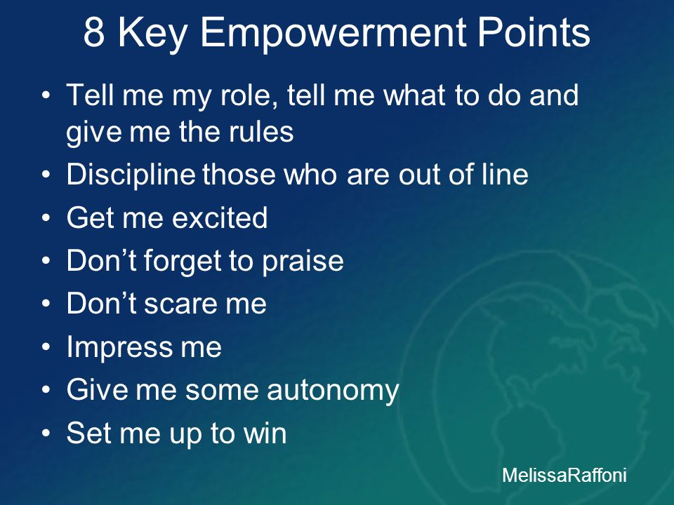 8 Key Empowerment Points