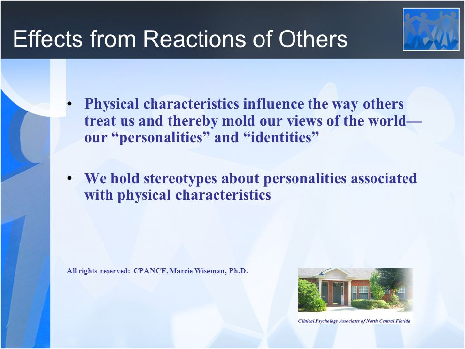 Effects from Reactions of Others
