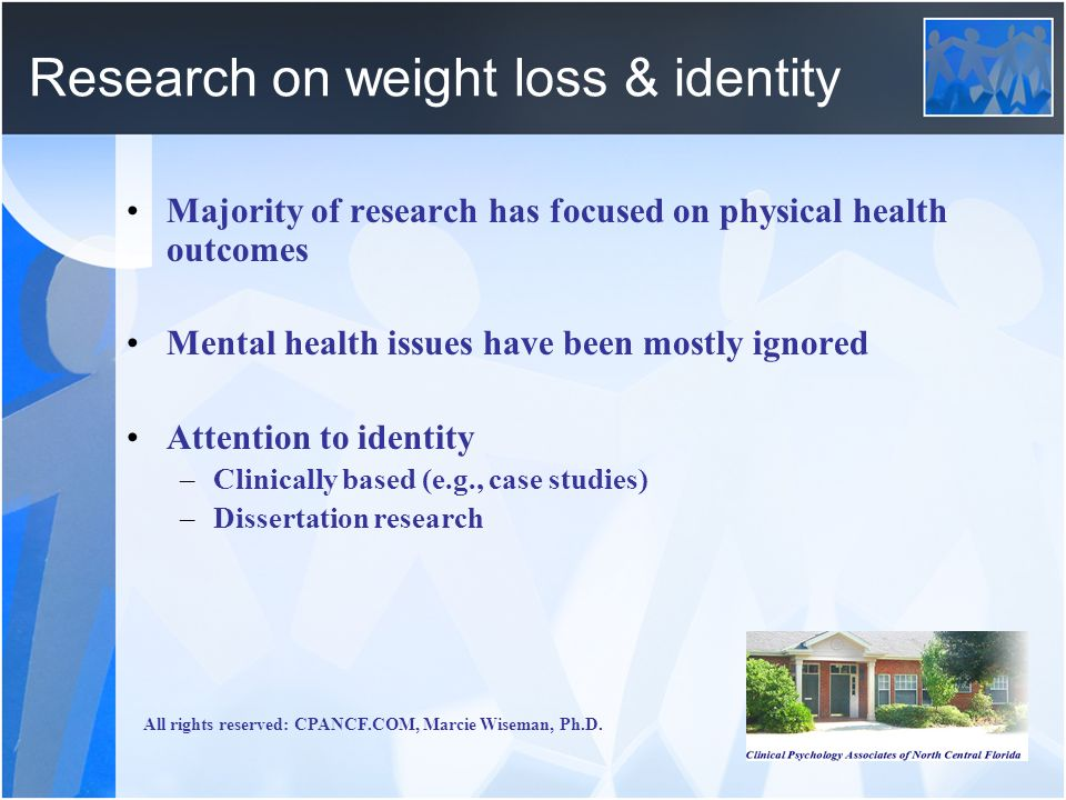Research on weight loss & identity