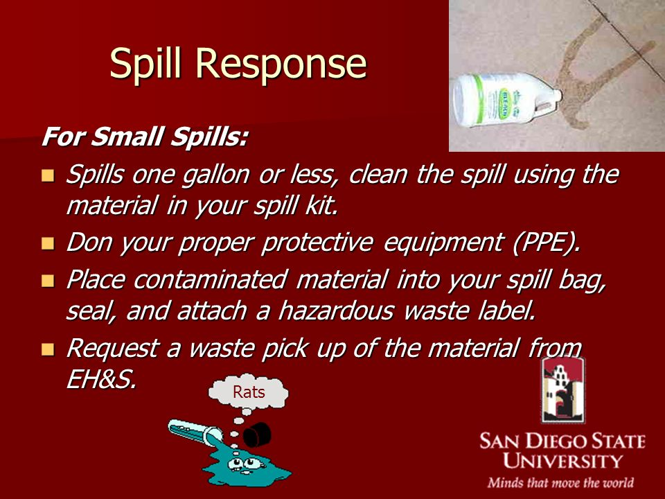 Spill Response For Small Spills:
