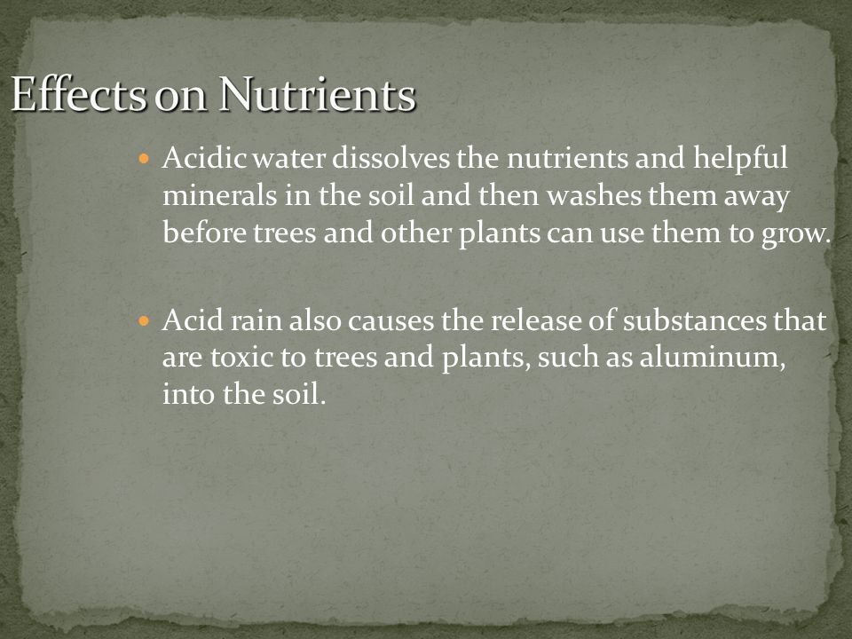 Effects on Nutrients