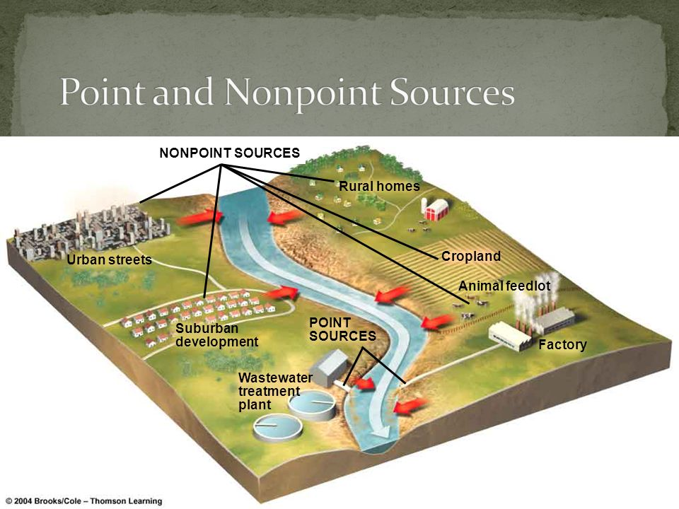 Point and Nonpoint Sources