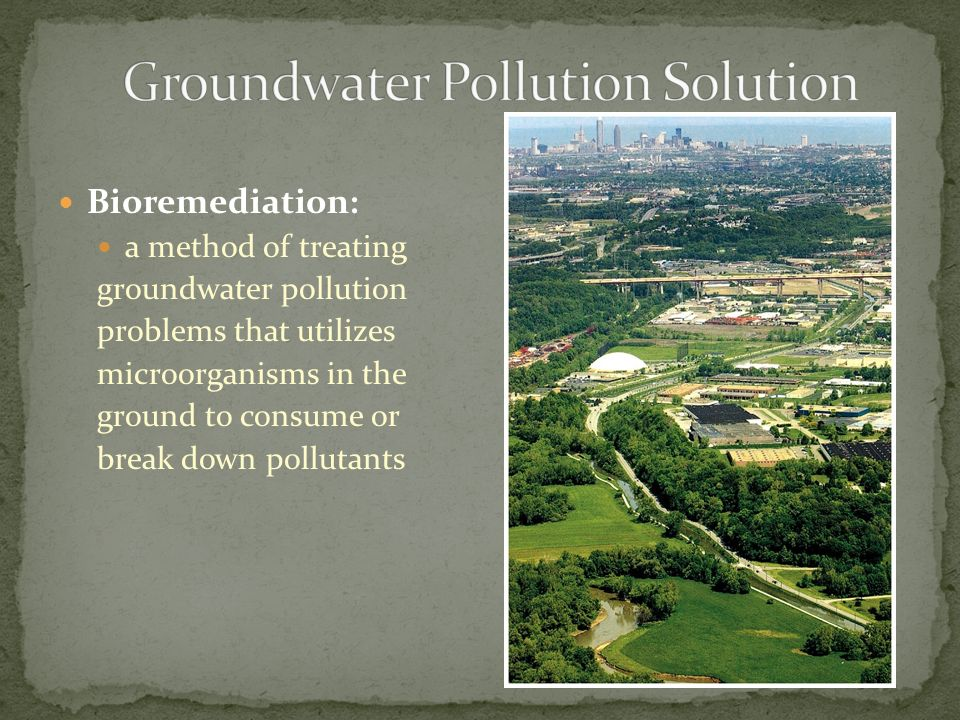 Groundwater Pollution Solution