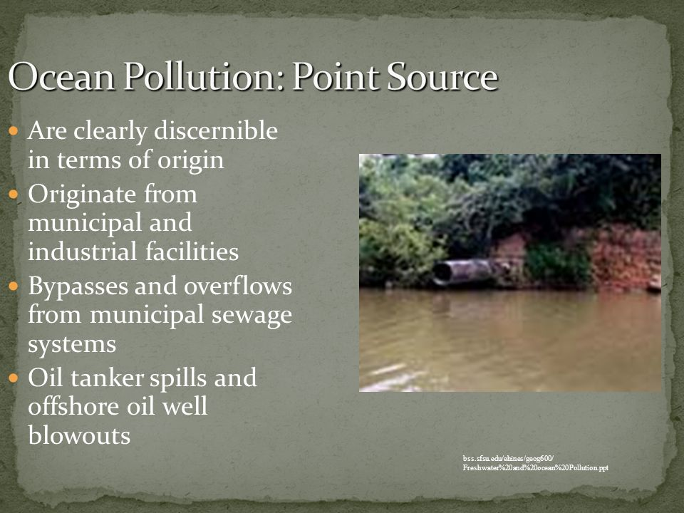 Ocean Pollution: Point Source