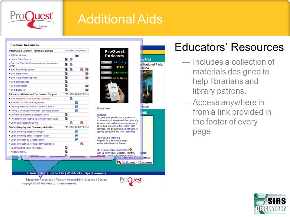 Additional Aids Educators' Resources