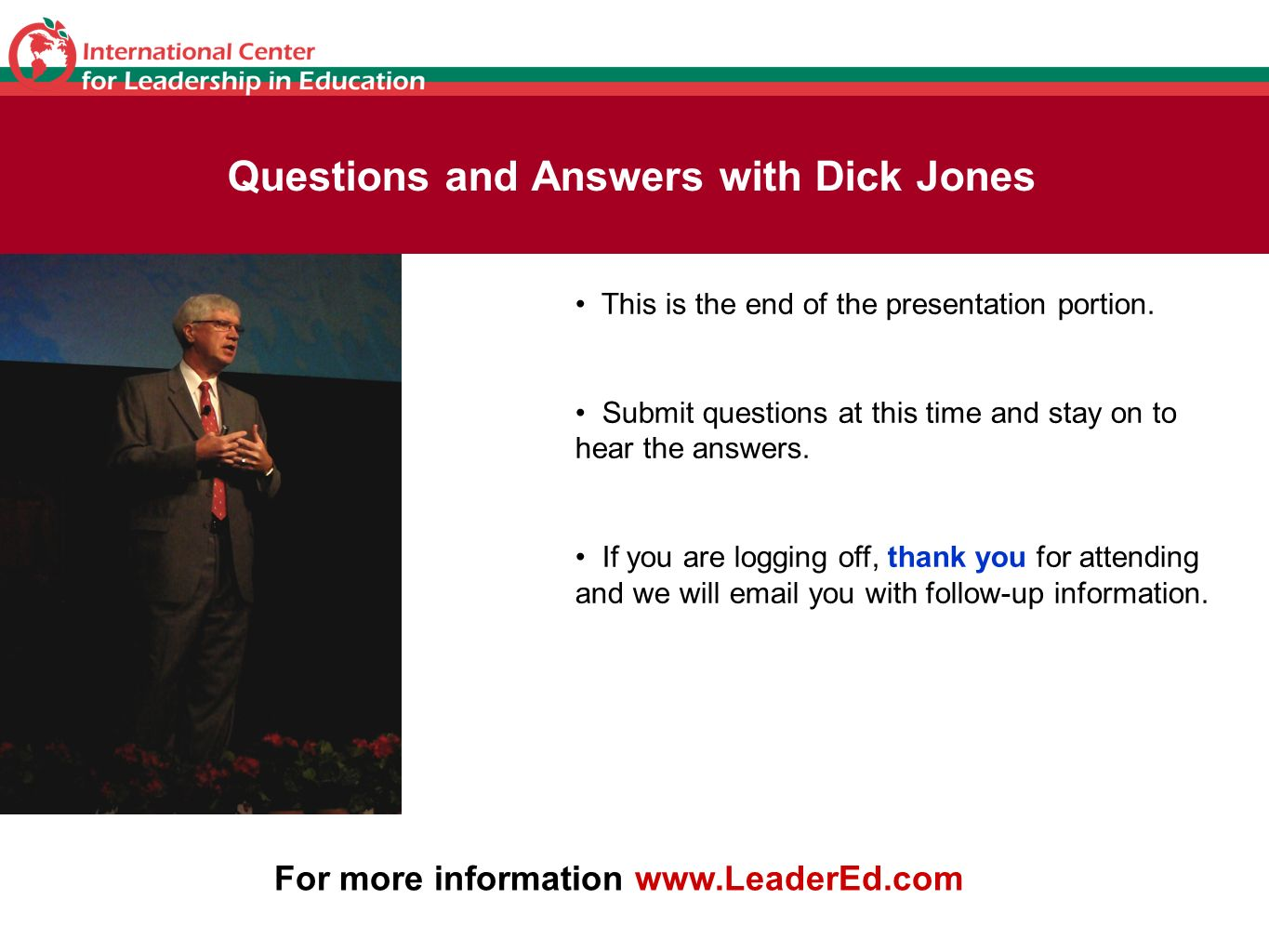 Questions and Answers with Dick Jones