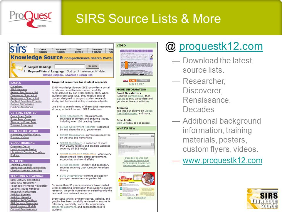 list of reliable websites for research