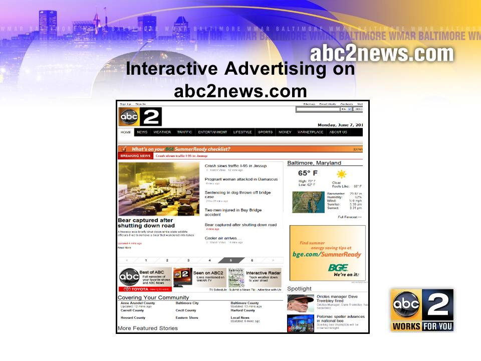 Interactive Advertising on abc2news.com