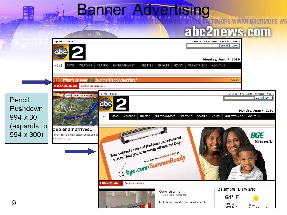 Banner Advertising Pencil Pushdown 994 x 30 (expands to 994 x 300) 9 9