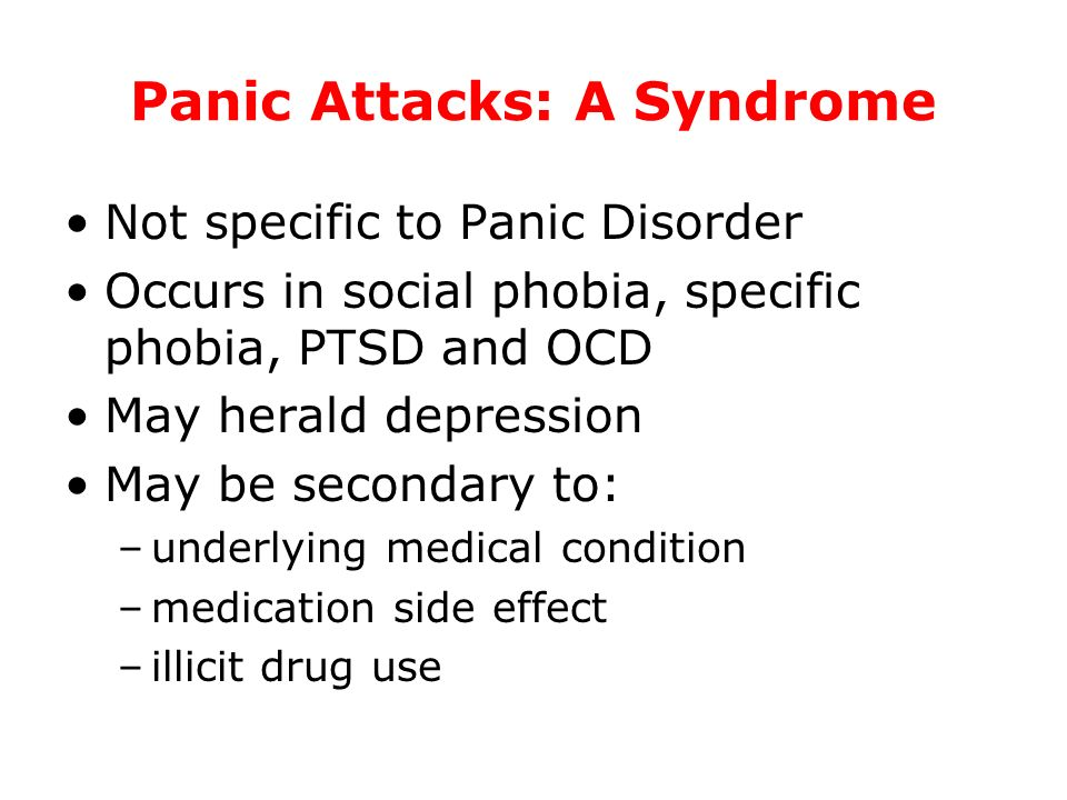 Panic Attacks: A Syndrome