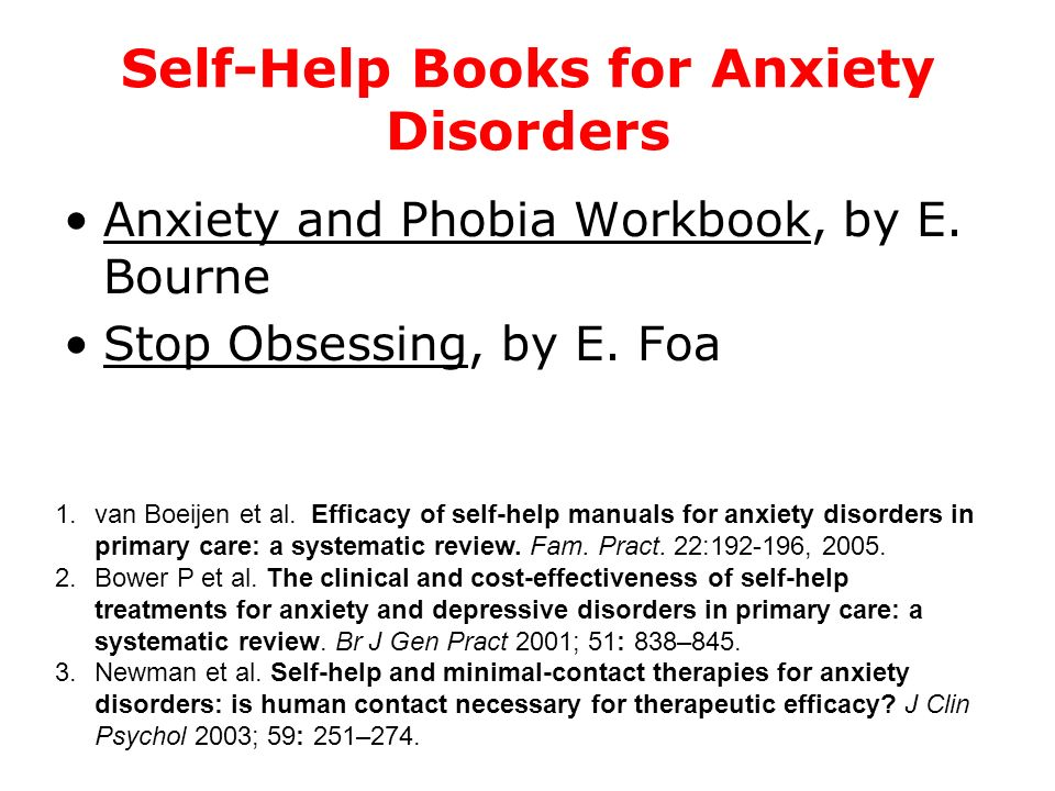 Self-Help Books for Anxiety Disorders