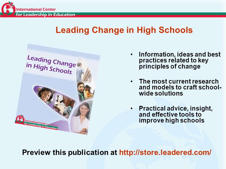 Leading Change in High Schools