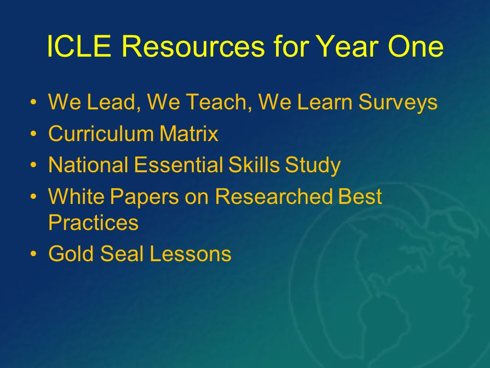 ICLE Resources for Year One