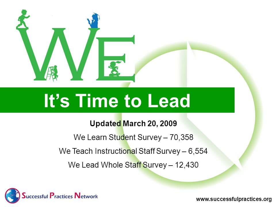 It's Time to Lead Updated March 20, 2009