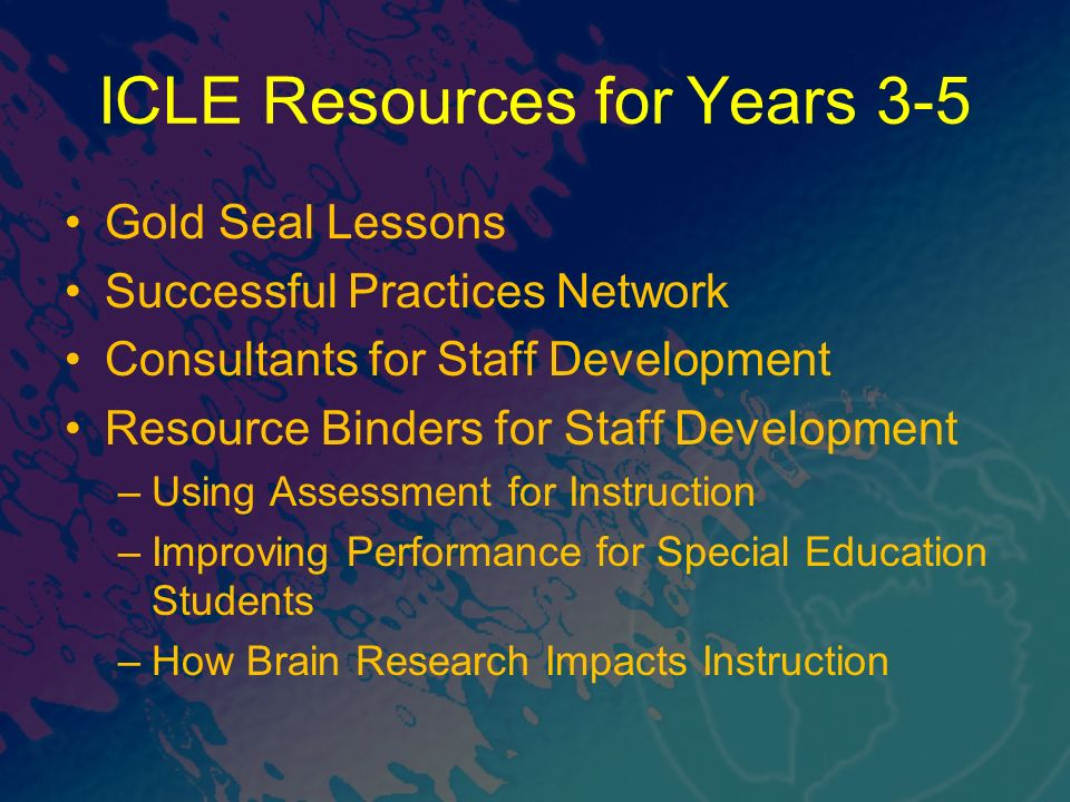 ICLE Resources for Years 3-5
