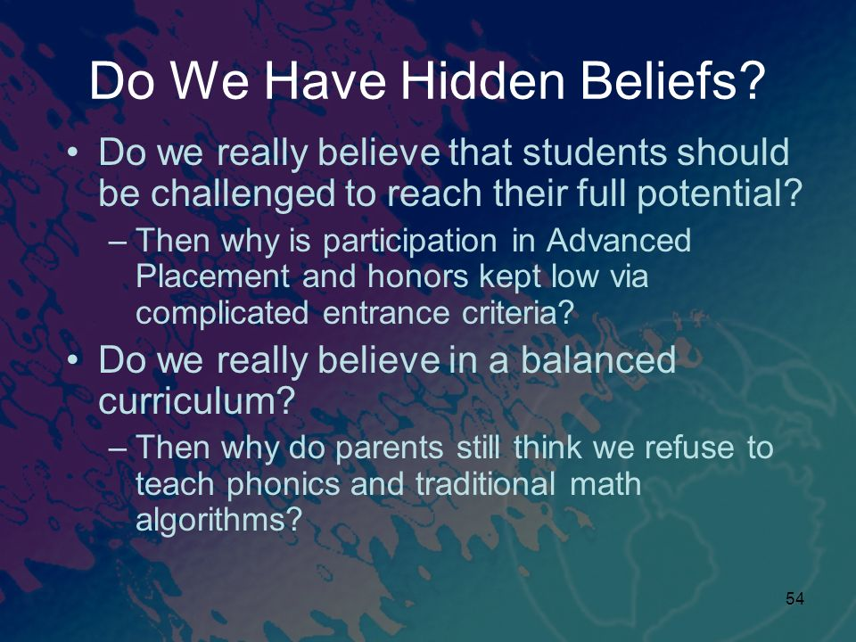 Do We Have Hidden Beliefs