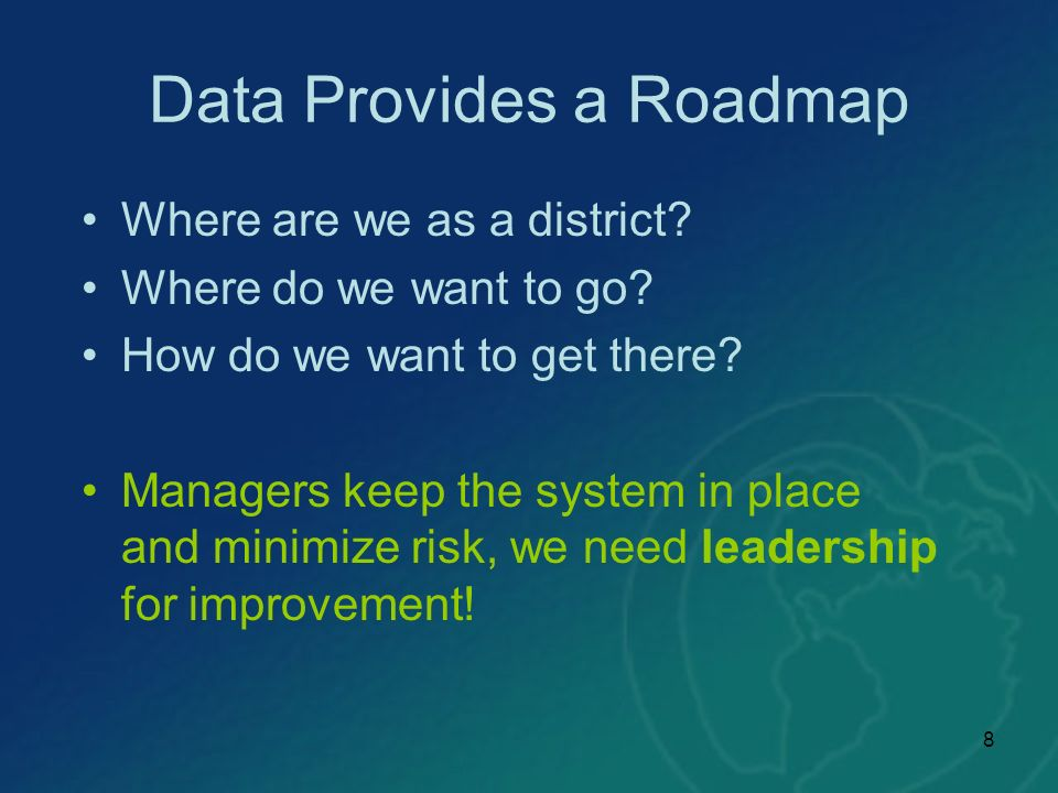 Data Provides a Roadmap