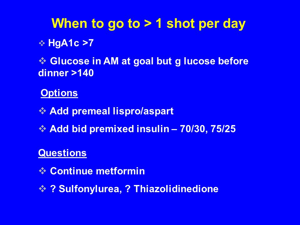 When to go to > 1 shot per day