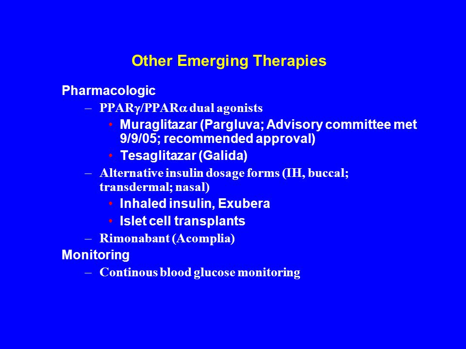 Other Emerging Therapies