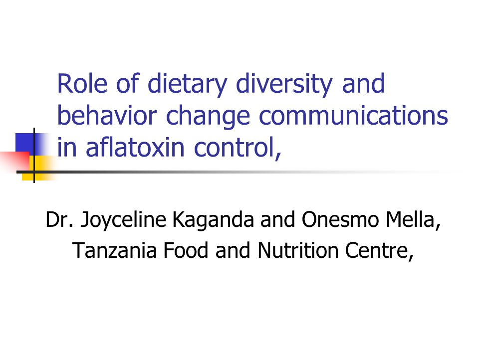 Role of dietary diversity and behavior change communications in aflatoxin control,