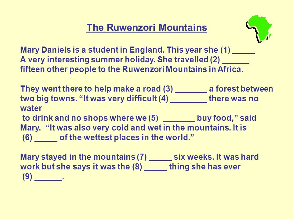 The Ruwenzori Mountains