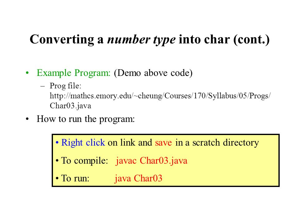 The character data type char - ppt video online download