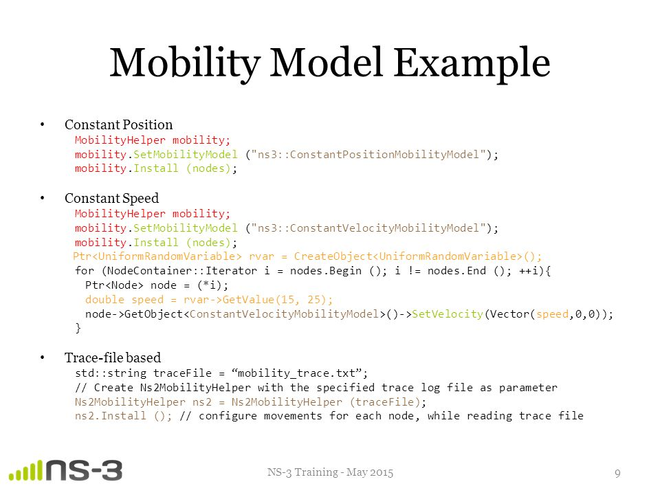 Vehicular Communication Simulations with NS-3 - ppt video